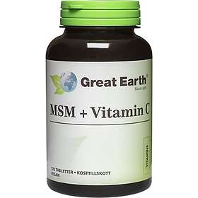 Great Earth MSM & Vitamin C 120 Tabletter