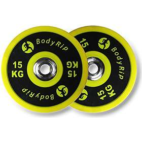 BodyRip Elite Competition Bumper Weight Plates 2x15kg