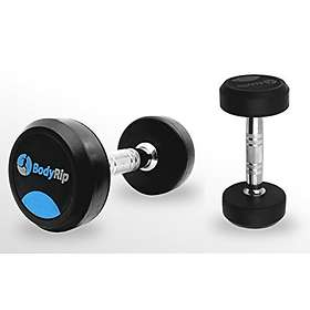 BodyRip Fixed Weight Rubber Coated Dumbbells 2x22.5kg