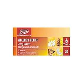 Boots Allergy Relief 6 Years+ 4mg 30 Tablets