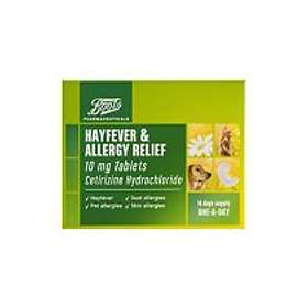 Boots Hayfever & Allergy Relief Cetirizine Hydrochloride 10mg 14 Tablets
