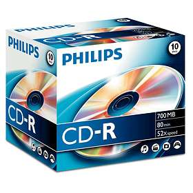 Philips CD-R 700MB 52x 10-pack Jewelcase