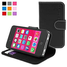 Snugg Leather Flip & Stand Case for iPhone 4/4S