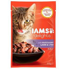 Iams Cat Delights Succulent Lamb and Liver Jelly 0.085kg