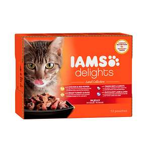 Iams Cat Delights Land Collection Jelly 12x0,085kg