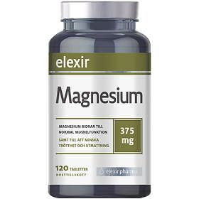Elexir Pharma Magnesium 375mg 120 Tabletter