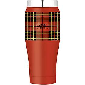 Thermos Red Heritage Plaid Travel Tumbler 0.47L
