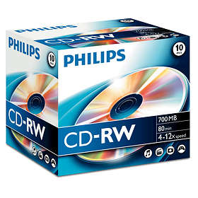 Philips CD-RW 700MB 12x 10-pack Jewelcase
