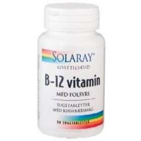 Solaray Vitamin B-12 med Folsyra 90 Tabletter