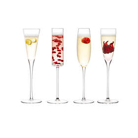 LSA International Lulu Champagne Glass 16cl 4-pack