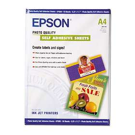 Epson Photo Quality Ink Jet Paper Self-adhesive 167g A4 10st