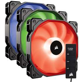 Corsair SP Series SP120 RGB with Controller PWM 120mm LED 3-pack