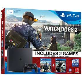 Sony PlayStation 4 (PS4) Slim 1To (+ Watch Dogs 1 + 2)