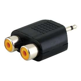 MicroConnect 3.5mm - 2RCA M-F Adapter