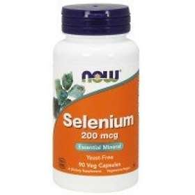 Now Foods Selenium 200mcg 90 Kapslar