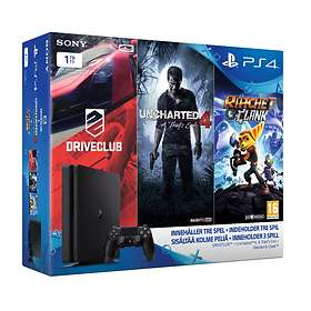 Sony PlayStation 4 (PS4) Slim 1To (+ Driveclub + Uncharted 4 + Ratchet & Cla