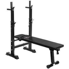 TecTake Weight Bench with Barbell Rack