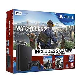 Sony PlayStation 4 (PS4) Slim 500GB (incl. Watch Dogs 1 + 2)