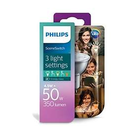 Philips SceneSwitch LED Spot 350lm 2700K GU10 4.5W (Dimmable)