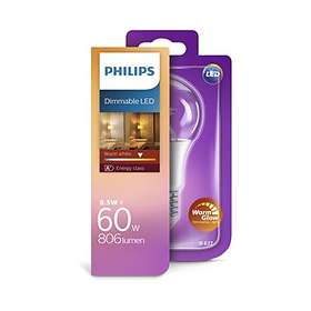 Philips LED WarmGlow 806lm 2700K E27 8.5W (Dimmable)