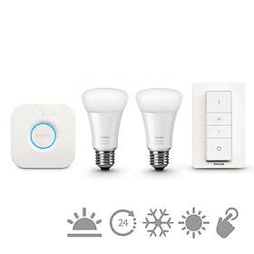 Philips Hue White Ambiance Starter Kit E27 LED 2-pack (Dimmable)