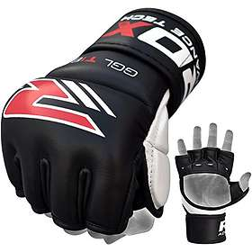 RDX Sports Leather MMA Gel Grappling Gloves