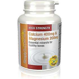 Simply Supplements Calcium 400mg & Magnesium 200mg 60 Tablets