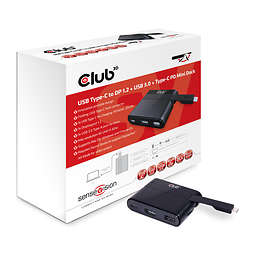 Club 3D SenseVision Type C Displayport1.2 Mini Dock