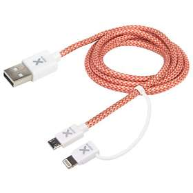 Xtorm USB A - USB Micro-B (with Lightning) 2.0 1m