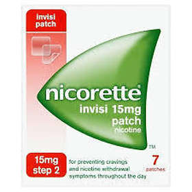 McNeil Nicorette Invisipatch Transdermal Patch 15mg/16h 7pcs