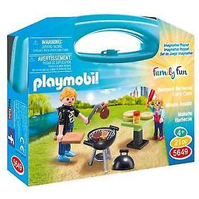 Playmobil Family Fun 5649 Backyard BBQ Carry Case