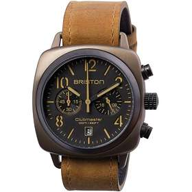 Briston Clubmaster Classic Chronograph Steel Leather