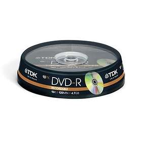 Philips DVD-R 4,7GB 16x 10-pack Spindel