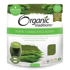 Organic Traditions Super 5 Grass Juice Blend 150g