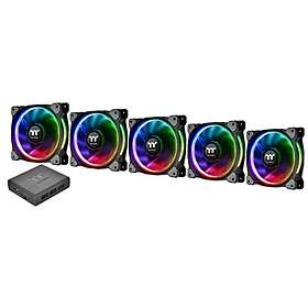 Thermaltake Premium Riing Plus 12 RGB PWM 120mm LED 5-pack