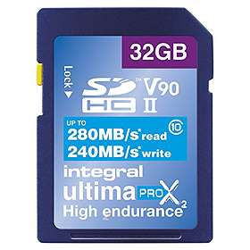 Integral UltimaPro X2 SDHC Class 10 UHS-II U3 280/240MB/s 32GB