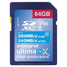 Integral UltimaPro X2 SDXC Class 10 UHS-II U3 280/240MB/s 64GB