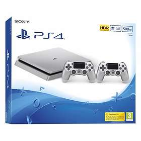 Sony PlayStation 4 (PS4) Slim 500GB (incl. 2nd DualShock) - Silver Edition