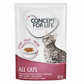 Concept for Life Cat Adult All Cats 10+ Pouches 24x0,085kg