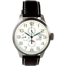 Zeno-Watch OS Retro Power Reserve Dual-Time Day Date 8055-f2