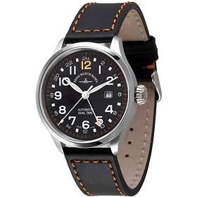 Zeno-Watch Retro Tre Pilot GMT 6302GMT-a15