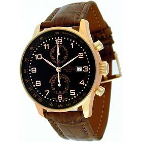 Zeno-Watch X-Large Retro Chronograph Bicompax P557BVD-Pgr-c1