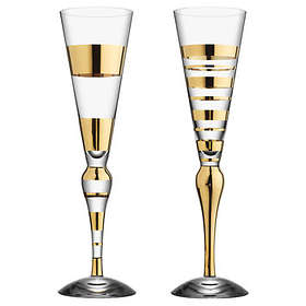 Orrefors Clown Champagne Glass 22cl 2-pack