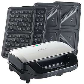 VonShef 2in1 Sandwich Toaster and Waffle Maker