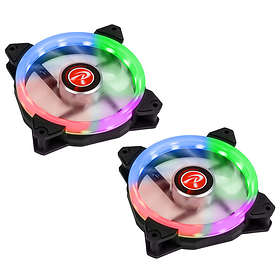 Raijintek Iris 12 Rainbow RGB PWM 120mm LED 2-pack