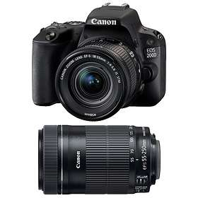 Canon EOS 200D + 18-55/3.5-5.6 IS STM + 55-250/4.0-5.6 IS STM