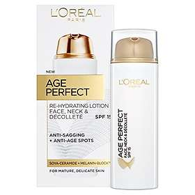 L'Oreal Age Perfect Face Neck & Decollete Re-Hydrating Lotion SPF15 50ml