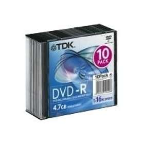 TDK DVD-R 4.7GB 16x 10-pack Slimcase