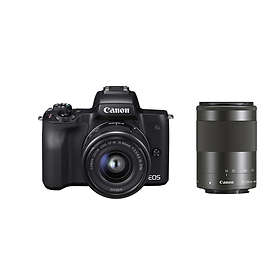 Canon EOS M50 + 15-45/3.5-6.3 IS STM + 55-200/4.5-6.3 IS STM
