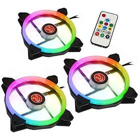 Raijintek Iris 14 Rainbow RGB PWM 140mm LED 3-pack